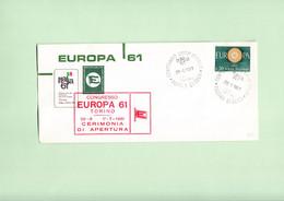 ITALIA, Europeistici, Congresso Europa Unita E Centenario Unità D'Italia, Annullo Spec. Torino 29-6-61 - Europäischer Gedanke