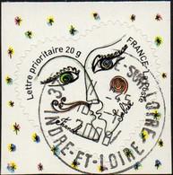 Oblitération Cachet à Date Sur Autoadhésif De France N°  148,** Ou 4130 - Franok Et Sabine. Coeur Saint Valentin 20gr - Sellos Autoadhesivos