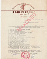 ALBERT  -  Facture EPICERIES EN GROS -  LARUELLE Frères  1951 - Albert