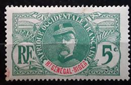 HAUT SÉNÉGAL ET NIGER  1906, Type Faidherbe,  Yvert No 4 , 5  C Vert , Neuf ** MNH - Nuovi