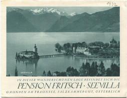 Österreich - Gmunden 1932 - Pension Fritsch See Villa - Faltblatt Mit 8 Abbildungen - Dépliants Turistici