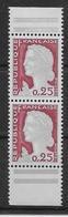France N°1263 - Paire De Carnet - Neuf ** Sans Charnière - TB - 1960 Marianne De Decaris