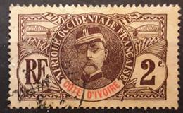 COTE D'IVOIRE   1906, Type Faidherbe,  Yvert No 22,  2 C  Brun Obl TB - Usados
