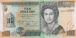 BELIZE 10 Dollars 2005 P 68 B UNC Serial Number 515000 - Belize
