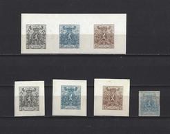 Belgique:  Réimpressions: 23/ 25 ** (2x) + Le 24* - 1866-1867 Piccolo Leone