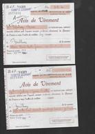BANQUE De FRANCE VICHY 2 Avis De Virement Caisse Régionale Bourbonnaise De Crédit Agricole Mutuel 1941 - Bank & Versicherung