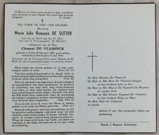 Marie Julie Romanie De Sutter °18.2.1903 Te Eeklo +21.5.1963 Te Antwerpen (164) - Santini