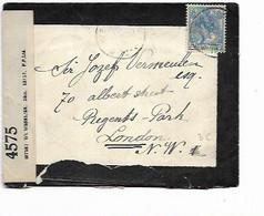 SH 0692. N° 54 S/LAC DEUIL OVERSLAG Vers LONDRES. CENSURE BRITANNIQUE - Brieven En Documenten
