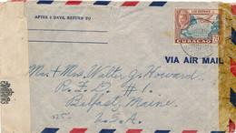 Curacao - 1943 - 70 Cent Luchtpost Op 2x Censored Cover Van Aruba Naar USA - Geopend Door Censuur Aruba N.W.I. - 35 - Curaçao, Nederlandse Antillen, Aruba