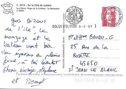 AA 2874 - DOLUS D'OLERON - CHARENTE MARITIME Superbe Flamme Postale Sur CP Au 9-8-71 - Mechanical Postmarks (Advertisement)
