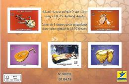 MAROC CARNET INSTRUMENT DE MUSIQUE DU MAROC 2019 - Morocco (1956-...)