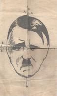 WO II .Spotprent Op Hitler. To Find A Fifth One. 23,5 X 15 Cm - Documenten