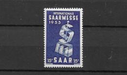 1953 MNH Saarland Mi 341 Postfris** - Ungebraucht