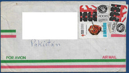 MEXICO POSTAL USED AIRMAIL COVER TO PAKISTAN - Mexico