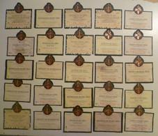 Lot De 25 étiquettes De Vin / La Confrérie Du Tastevin / Tastevinage - Collections & Sets