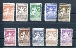 Lot De 10 Vignettes Exposition Alençon 1898 - Sonstige