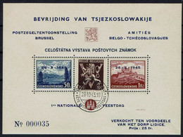 BELGIE Belgien - CSSR AS15* / Lidické Lidice / Belgie 1945 / Ceskoslovensk / Bratislava 1937 / Vlamský Textu - Sonstige