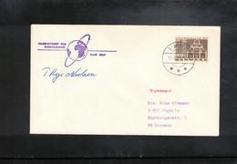 Denmark 1971 Space / Raumfahrt Apollo 15 Tracking Station Rude Skov Interesting Signed Letter - Europe
