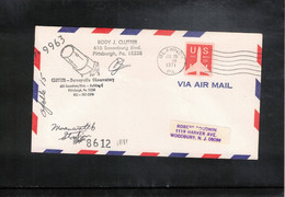 USA 1971 Space / Raumfahrt Apollo 15  Tracking Station Dorseyville Observatory Interesting Signed Letter - United States