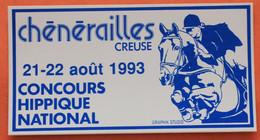 Autocollant Du Concours Hippique De Chenerailles En 1993 - Chenerailles