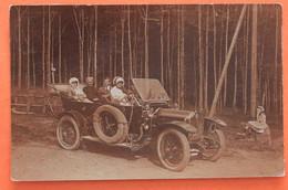 Carte Photo Epinal, Superbe Voiture Dans Les Forets Vosgiennes En 1911 - Epinal