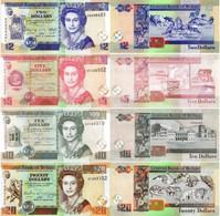 BELIZE 2 5 10 20 Dollars 2011 - 2017  P 66 67 68 69 UNC Set Of 4 Banknotes - Belize