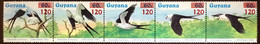 Guyana 1986 Christmas Surcharged Swallow Tailed Kites Birds MNH - Sin Clasificación