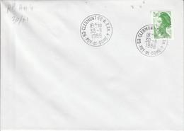 OBLITERATION CLERMONT FERRAND R P ANNEXE 4 1988 - Manual Postmarks