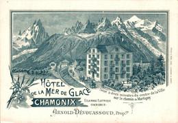 78189- Hotel De La Mer De Glace Kanton Wallis Um 1910 - VS Valais