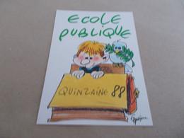 ILLUSTRATION  DESSIN  ECOLE PUBLIQUE QUINZAINE 88  ENFANT ET OISEAU - Other Illustrators