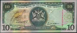 ♛ TRINIDAD & TOBAGO - 10 Dollars 2002 {sign. Ewart S.Williams} UNC P.43 - Trindad & Tobago