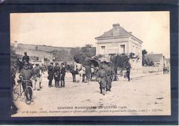 Grandes Manoeuvres Du Centre 1908. 32e De Ligne. Colonel, Lieutenant-colonel Et Officiers En Conférence (loches 2/09) - Manöver