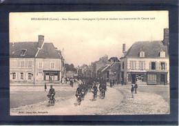 45. Bellegarde. Grandes Manoeuvres Du Centre 1908. Compagnie Cycliste - Manöver