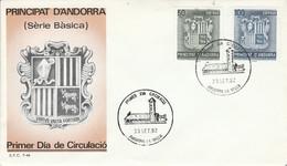 ANDORRE ESPAGNOL FDC 1982 ARMOIRIES - Cartas