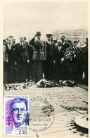LIBERATION DE PARIS -Tombe Du Soldat Inconnu - Carte 1ER Jour, Timbre Général De Gaulle - War 1939-45