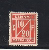 Maroc. Postes Locales. Timbre. Demnate-Marrakech. Yvert Et Tellier N° 1 A. 1907. Légère Trace De Charnière. Etat Moyen. - Locals & Carriers