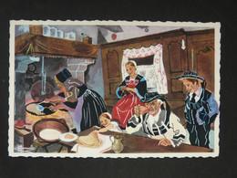En Parcourant La Bretagne - Jour De Galettes, Pontivy - Aquarelle De Charles Homualk- N°26 - Artaud/ Gaby - Pontivy