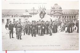 376 - PARIS - TRANSLATION DES CENDRES DE L'AMIRAL PAUL JONES - OFFICIERS AMERICAINS DANS LA COUR DE L'ECOLE MILITAIRE - Personen