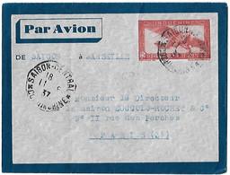 Asie - INDOCHINE - Enveloppe - Par Avion - De SAIGON à MARSEILLE - PA 8 - Verso Cachet Paris RP Distribution 1937 - Otros - Asia