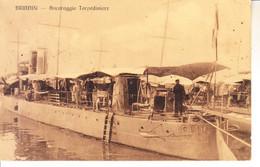 ITALIA -  BRINDISI - Ancoraggio Torpediniere, Animata, Viag. 1914 - 2020-B-219,220 - Brindisi