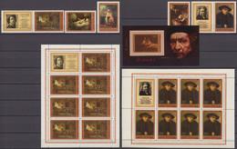 Russia, USSR 25.11.1976 Mi # 4551-55 Zf, 4551, 55 Kleinbogensatz Bl 116, Rembrandt's 370th Birthday MNH OG - Rembrandt
