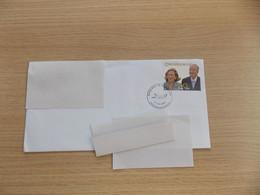 België Omslag Met Opvallende Stempel 50 Jaar Huwelijk Koning Albert En Koningin Paola 2009 - Briefe U. Dokumente