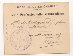 HOSPICE DE LA CHARITE LYON / ELEVE INFIRMIERE / VISITE DU PRESIDENT FALLIERES 19 MAI 1907 C1544 - Documenti Storici