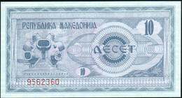 ♛ MACEDONIA - 10 Denari 1992 {Narodna Banka Na Makedonija} UNC P.1 - Macedonië