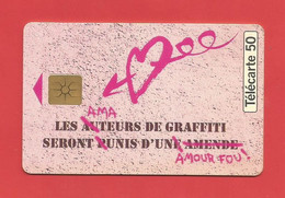 TELECARTE 50 U TIRAGE 1000 000 EX. Graffiti Parfum   ---- X 2 Scan - Parfum