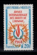 SPM - YV 384 N** Droits De L'homme Cote 13 Euros - Unused Stamps