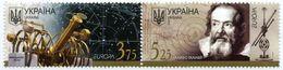 UKRAINE/UKRAINA 2009 MI.1032-33**,Yvert 941-42, Europa. Science. Astronomy, Telescope & Galileo Galilei - Tabs - MNH - Ukraine