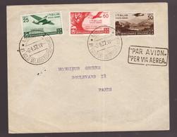 Regno, Aerogramma Volo Milano-Torino-Parigi Del 1937 -CX58 - Marcofilía (Aviones)
