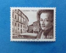 1998 ITALIA FRANCOBOLLO NUOVO ITALY STAMP NEW MNH** LEOPARDI - 1991-00:  Nuovi
