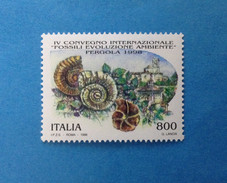1998 ITALIA FRANCOBOLLO NUOVO ITALY STAMP NEW MNH** FOSSILI PERGOLA - 1991-00:  Nuovi